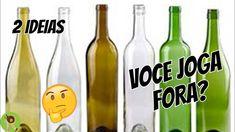 GARRAFAS DE VIDRO PEQUENAS - Ideias Fáceis, Lindas e Diferentes Diy Glasses, Bottle Vase, Youtube, Day, Cool Stuff, Projects, Decoupage, Glass Milk Bottles, Small Glass Bottles