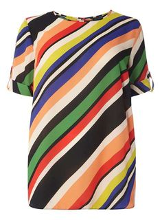 DP Curve Multi Stripe Soft T-Shirt - Tops & T-Shirts - Clothing - Dorothy Perkins United States