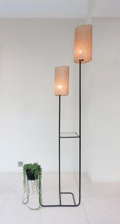 Mathieu Matégot: Glass and Lacquered Metal Floor Lamp, 1956.