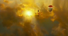 """A shot from """"Life of Pi,"""" from a trailer that accompanies Deadline interview with Ang Lee, the film's director. Gorgeous.    Check it all out here: http://www.deadline.com/2012/11/life-of-pi-sails-into-oscar-race-ang-lee-interview-plus-featurette-video/"""