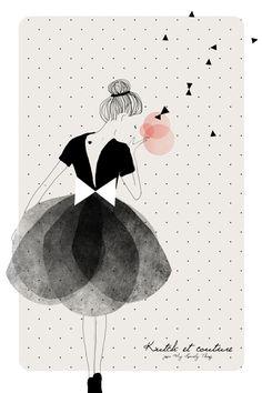 Kutch et Couture vu par My Lovely Thing // Illustration par Marie Pertriaux Art Et Illustration, Art Design, Oeuvre D'art, Illustrations Posters, Illustrators, Art Drawings, Artsy, Sketches, Abstract