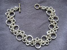 Chainmaille Bracelet Stepping Stones Pattern. $25.00, via Etsy.