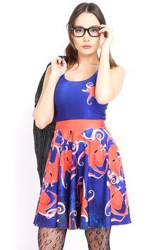 What's Kraken Skater Dress - $79.00 AUD