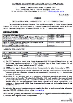 CTET 2016 Notification ,Central Board of Secondary Education has released CTET Notification 2016 on official website, Candidates apply online form before 28 December 2015