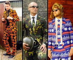 OppoSuits. The opposite of the business suit: ridiculous, ugly, and perfect for halloween.