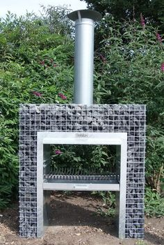 Gabion Block-Kamin Grill 1,25m x 1,30m x 0,48m