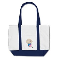Tote - baby with yin yang lollipop tote bags