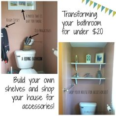 Transforming Your Bathroom for under $20