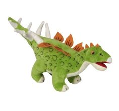 Colourful Cuddly Dinosaur Stegosaurus -   A fun and colourful cuddly dinosaur Stegosaurus with a cheeky smile which is suitable from birth but great for younger toddlers to have gentle role play games.