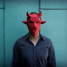 Máscara de diablo por Wintercroft en Etsy