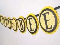 Here Is The Perfect Banner For A Bee Themed Baby Shower This Mommy To Makes Great Photo Prop Or Decoration It Also