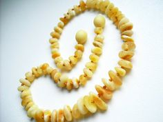 Maximum Effective Raw Unpolished White colour Baltic Amber Baby Teething Necklace.