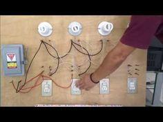 Como conectar lamparas en paralelo con apagadores de escalera Home Electrical Wiring, Electrical Installation, Outlet Wiring, Rugs On Carpet, Diy And Crafts, Electronics, Projects, Power Lineman, Aquarium