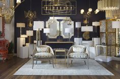 NEW vignette in the Currey Showroom-Spring 2014. IHFC, M110 on Main Street. #curreyco #hpmkt #gold #geometry #beautiful www.curreycodealers.com