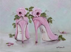 Pink Roses & Shoes what more could a girl wish for?