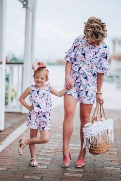 Family Matching Clothes Summer Striped Short Sleeve Dress Mother Daughter Dresses Vintage Retro Girls Kids Ladies Sundress Boho Tunic Dress Casual Birthday Princess Party Dress