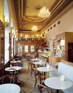 Cafe Savoy in Prague. It's always busy, serving great French and Czech food Prague Travel, London Travel, Café Bar, Prague Czech Republic, French Cafe, Cafe Design, Diy Design, Eurotrip, Cafe Restaurant