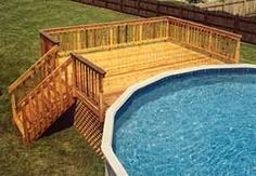 Are you think of how to enhanced your pool area with pool deck ideas? I have here how to enhance your pool area with a pool deck ideas you will love. Swimming Pool Decks, My Pool, Lap Pools, Indoor Pools, Backyard Pools, Pool Deck Plans, Deck Building Plans, Round Above Ground Pool, Gardens