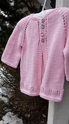 Little Ava Knit Cardi free pattern by Taiga Hilliard Designs
