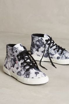 Superga Wax-Print High-Tops #anthroregistry