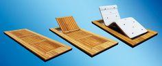 Yacht lounge chair / recessed / teak - teaky beach - Opacmare