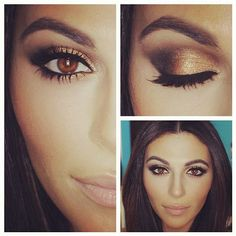 Smoky eyes for brown eyes. I think this could work for hazel too. Makeup beauty trends for brunettes. This season makeup tips.