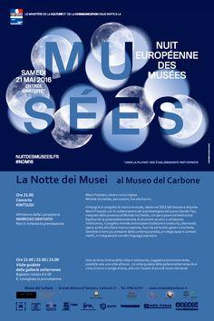 #NDM16 in arrivo! La Notte Europea dei Musei al #MuseodelCarbone #minieraserbariu 21 Maggio 2016 a partire dalle 21.00