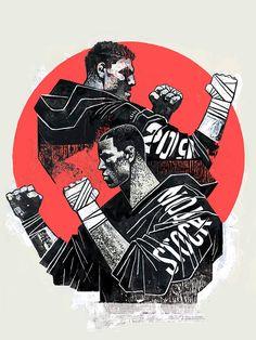 Conheça Gian Galang, o artista que transforma astros do UFC em incríveis ilustrações (Foto: Nick e Nate Diaz/UFC)