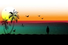 Landscape of the Beach in Sunset #Sponsored , #sponsored, #Landscape, #Beach, #Sunset Unicorn Drawing, Bokeh, Graphic Illustration, Overlays, Netherlands, Clip Art, Sunset, Landscape, Drawings