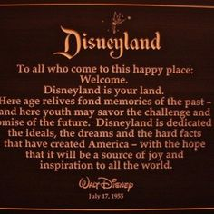 Walt Disney's Opening Day Speech at Disneyland on July 17, 1955.