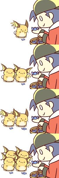 Tags: Anime, Fanart, Pokémon, Raichu, Gold (Pokémon)