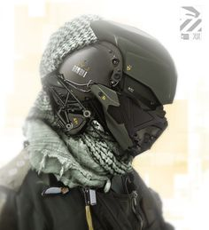 We've got some more futuristic sci-fi military cyborg art for you to check out, created by CGHUB user NivanhChanthara . I love the detail put into these, and I would love to see them brought to life. You can check out some of the artist's previo Cyberpunk, Image Moto, Alternative Kunst, Taktischer Helm, Futuristic Helmet, Futuristic Armour, Le Manoosh, Tactical Helmet, Airsoft Helmet