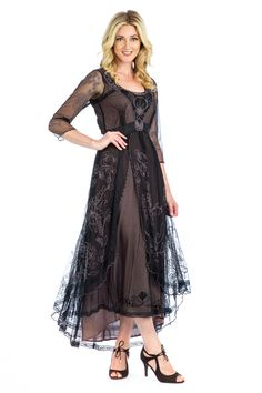 9b91d773fa7 Nataya Downton Abbey Dress 40163 BlkCoco Plus