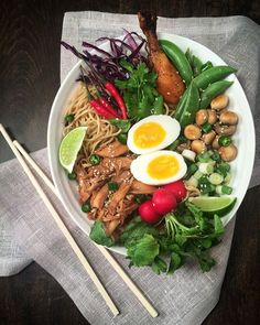 Food and drink <b>Food and drink.</b> 11 Lifesaving Recipes For The Lazy or Broke – Delhicioso! Pots, B Food, Ramen Bowl, Soft Boiled Eggs, Organic Chicken, One Pot Pasta, Snap Peas, Red Cabbage, Pasta Bake