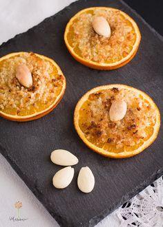 Naranja al horno con almendra y jengibre