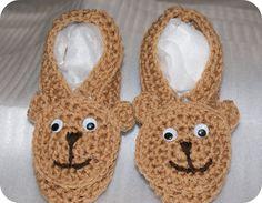 Teddi Bear Slippers by CheekeemonkeeStore on Etsy Bear Slippers, Baby Bibs, Crochet Earrings, My Style, Cute, Etsy, Fun Stuff, Jewelry, Teddy Bear