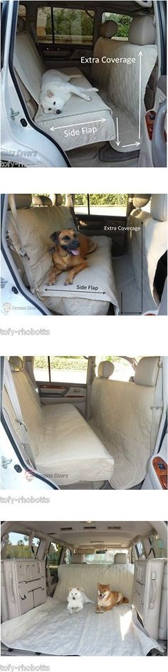 Car Seat Covers 117426: Extra Large Vehicle Dog Back Seat Cover Zone Car Travel Pet Barrier Van Mat Pads BUY IT NOW ONLY: $54.99