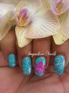 Lotus by Grazienailart - Nail Art
