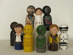The Evening Tree: Star Wars Pegs...crafting for boys