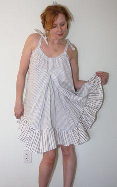 DIY: 2 Men's Shirts to Cute Babydoll Dress - Chic Steals