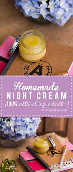 5-minute DIY Night Cream recipe made with natural ingredients proven to slow aging. No time? She'll even sell you a jar! | Jellibeanjournals.com