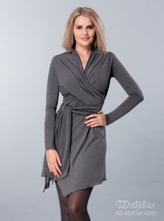 Dress tunic Wrap Me!, grey melange