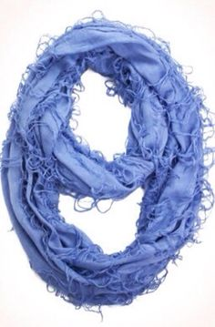 d.monaco boutique new arrivals, beautiful blue infinity scarf, fun, soft, trendy, fringe, spring and summer fashion #d.monacoboutique
