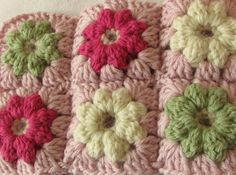 This step by step tutorial will show you how to crochet mini puff stitch flower granny squares which can be made into a pretty blanket / throw / afghan. To m...
