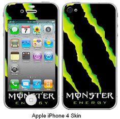 Apple iPhone Skin Monster Energy #1