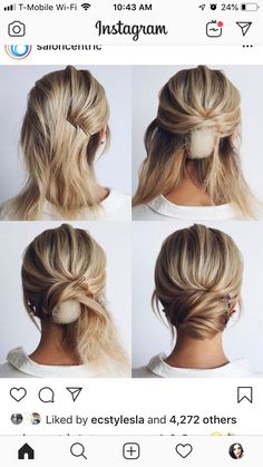 Prom Wedding Hairstyle Tutorial For Long Hair Roses & Rings - Part 3 - Fri . Wedding Hairstyles Tutorial, Bride Hairstyles, Growing Your Hair Out, Long Thin Hair, Bridal Hair Updo, 2 Instagram, Hair Vine, Bridesmaid Hair, Hair Dos