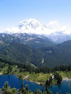 Tolmie Peak Lookout - Eunice Lake.  Mt. Rainier