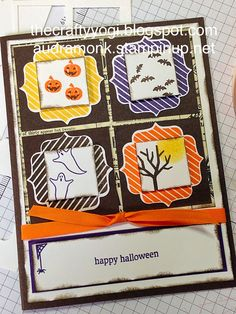 thecraftyyogi.blogspot.com, holiday home,stampin up,Halloween card