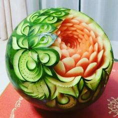Food Carving, Food Art, Watermelon, Fruit, Goal, Clever, Instagram