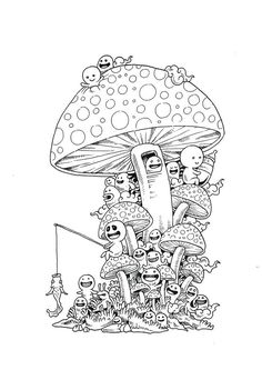 doodle invasion colouring book - Google Search
